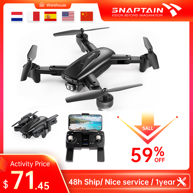 SNAPTAIN SP500 Camera Drone drone Foldable FPV RC Quadcopter with 1080P HD Drones 5G WiFi Drones Hight Hold Christmas gift kids