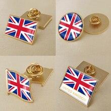 Герб Соединенного Королевства британские карта Национальный флаг Эмблема с национальным цветочным брошь значки нагрудные знаки