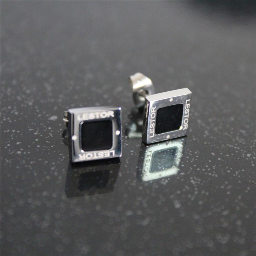 Mode Epoxy Schwarzes Quadrat Ohrringe Für Frauen Edelstahl Schmuck Ohrringe 2019 Großhandel