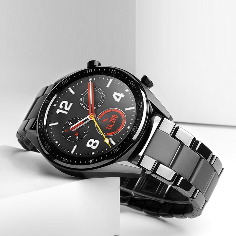 20 22 мм керамический ремешок для часов huawei watch GT 2 2E /HONOR Magic WATCH 2 сменный ремешок для Samsung Galaxy 46 мм 42 ммРемешки для часов   -
