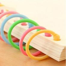 ГОРЯЧИЕ ПРОДАЖИ +% 21% 21% 21 30шт пластик свободный лист переплет кольца конфеты цвет катушка папка обруч держатель инструмент