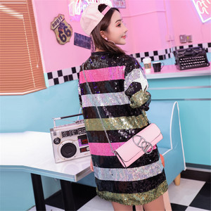 Image 2 - فستان كوكتيل نسائي مطرز بالترتر برقبة دائرية هندسية غير رسمية للنساء فستان كوكتيل