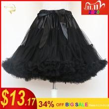 Schwarz Mode Ballkleid Unterrock Schaukel Kurzen Kleid Petticoat Lolita Petticoat Ballett Tutu Rock Rockabilly Krinoline Ohne Knochen