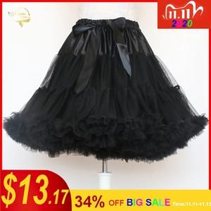 Image 1 - Đen Thời Trang Bầu Tây Nam Không Xoay Đầm Ngắn Petticoat Lolita Petticoat Ba Lê Váy Tutu Rockabilly Crinoline Không Xương