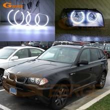 ممتاز فائق الإشراق COB led عيون الملاك عدة هالة خواتم تصفيف السيارة لسيارات BMW E83 X3 2003 2004 2005 2006 قبل تجميل المصباح