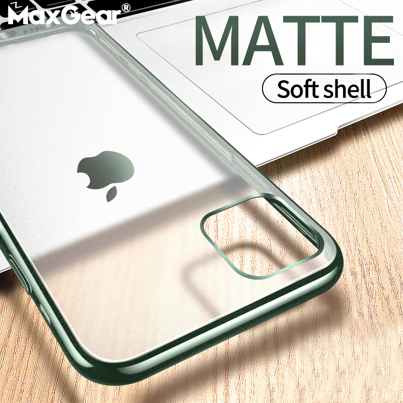 Matte Plating Clear Phone Case For iPhone 11 Pro Max Cases For iPhone 6 6S 7 8 Plus X