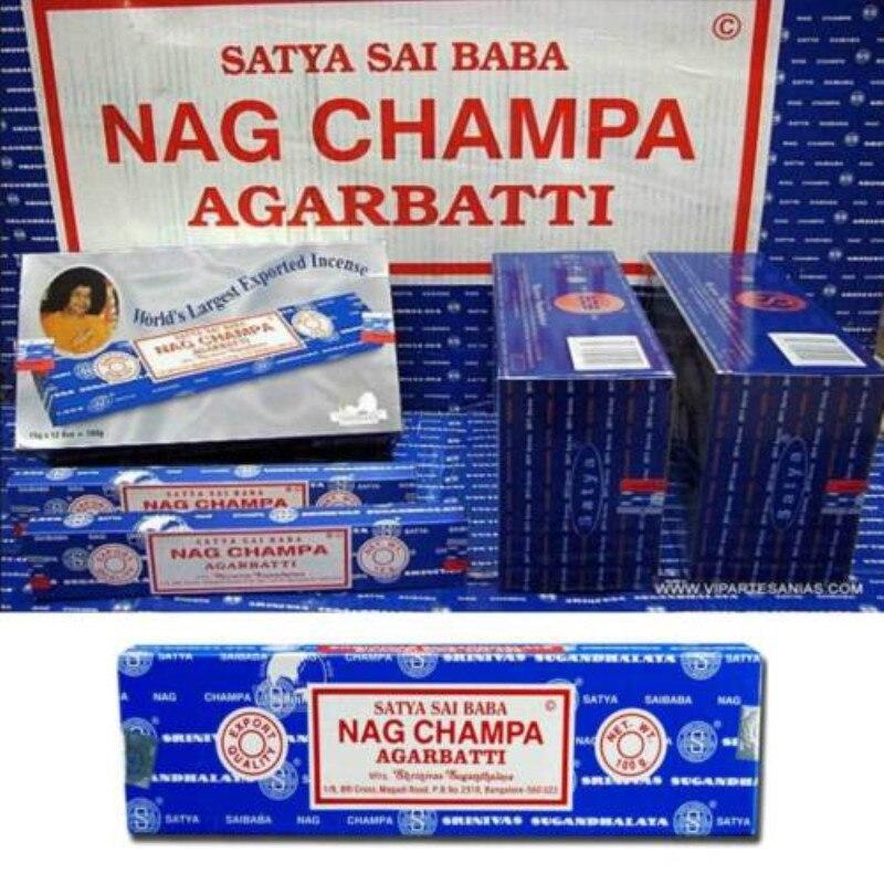 Satya Sai Baba NAG CHAMPA Incense Sticks Bo- 15 G Packs Natural Fragrance