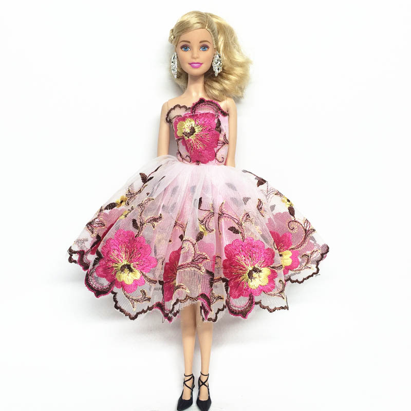 """Purple Flower Costume Dress Lace Dresses For 11.5/"""" Doll 1//6 Fashion Clothes Toy"""