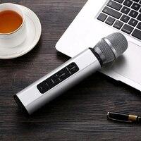 K6 Drahtlose Mikrofon Karaokes Player Aufnahme Singen Mikrofon BT 4 1 Lautsprecher Tragbare Mikrofon für Android Smart Telefon PC