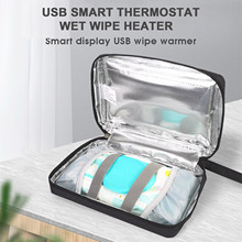 Constant Temperature Baby Wipes Heating Bag Portable USB Wet Wipe Warmer With Adjustable Temperature Baby Wipes Well-suited