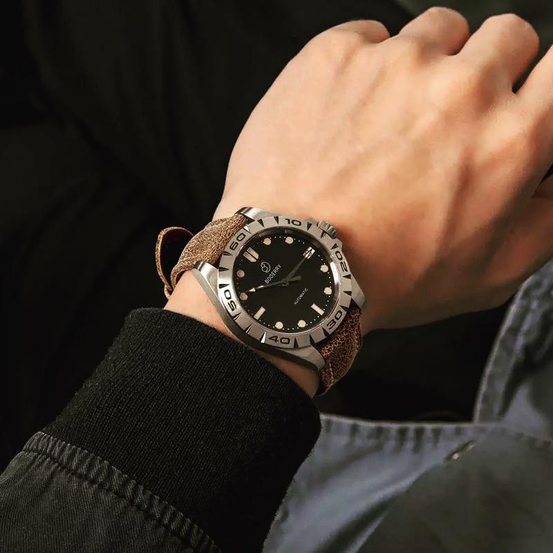 Titanium Case 2020 Top Brand Luxury Men's Watches Automatic Mechanical Waterproof Calendar Watch for Men Relogio Masculino