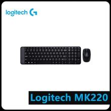 Logitech MK220 104 Keys Wireless Keyboard 1000dpi Mouse USB Receiver Set Computer Peripheral logitech mk220 wireless keyboard mouse combo english keypad pc computer