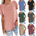 2021 Women Fashion T-shirts New European/ American Women's Spring/Summer New Solid Color Short-sleeved Women Fashion Clothing