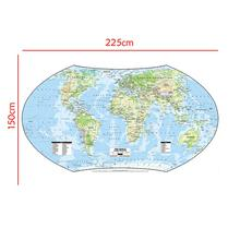 Карта мира проекция молота без национального флага для геолого-естественных исследований 150x225 см