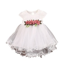 Clothing Tutu-Dress Tulle Girls Princess Party Toddler Infant Summer Mesh Cute Floral