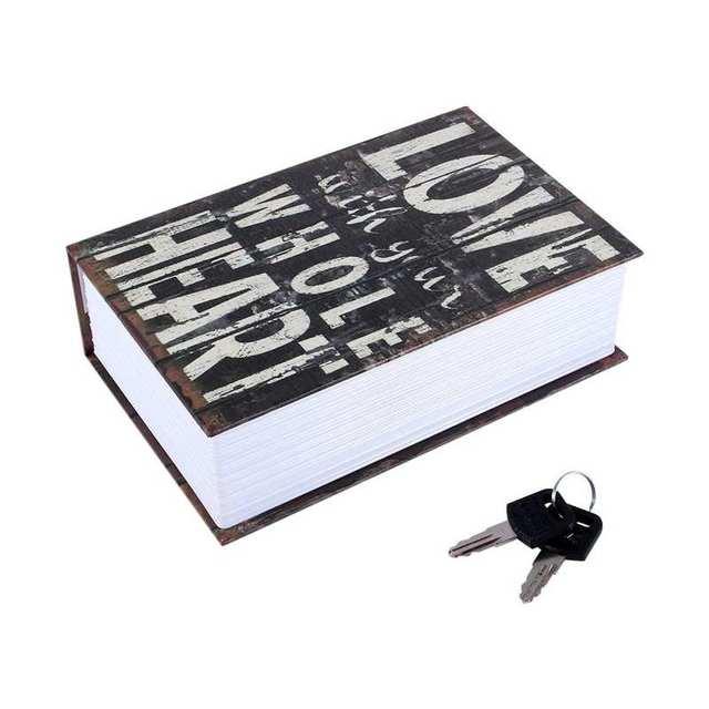 Secret Hidden Safe Security Box of Dictionary Book Shape Key Box For Money Cash Jewelry Safe Deposit Box Mini Lock Box for home 3