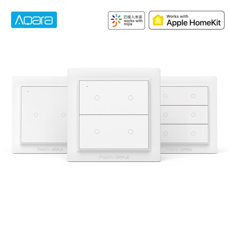 Xiaomi Aqara ZigBee 3.0 Opple Wireless Smart Switch Work With Mijia App Apple HomeKit Wall Switch Hot