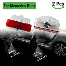 2PCS LED car door light for Mercedes logo projector lights welcome interior lamp led lighting benz  GLK class