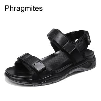 Phragmites Big Size 48# Men Sandals Platform Shoes Men Summer Sandals Comfortable  Sandalias Mujer Soft Outdoor Men Roman Sandal