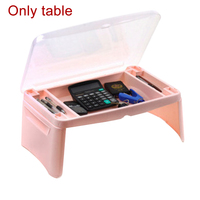 Portable Foldable Laptop Desk Kid Eating Table Notebook Portable Tray With Storage Space For Kids Sofa Bed