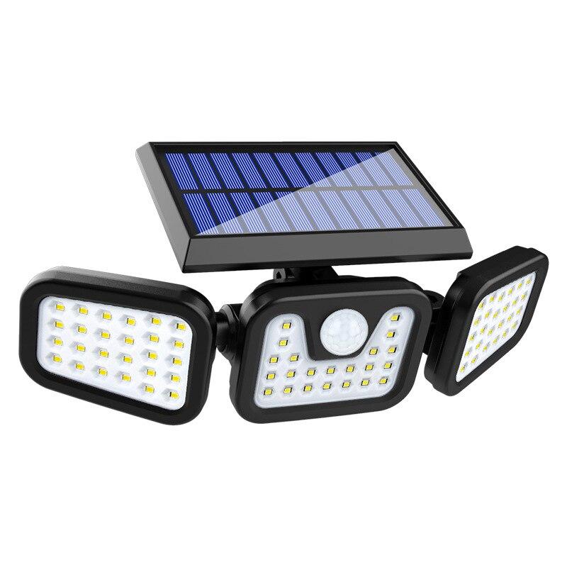 luzes de seguranca solar 3 cabeca sensor movimento luzes ajustavel 3 modos a prova dlagua para