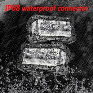 Image 3 - Aeobey 2 قطعة 5 بوصة 45 واط مصباح ليد بار مقاوم للماء IP68 LED ضوء العمل ل led القيادة ضوء الطرق الوعرة 4x4 قارب سيارة جرار شاحنة atv