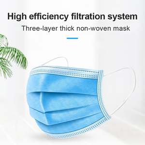Image 3 - Respiratory Mask Anti Dust Disposable Face Masks 3 Layer Filter Face Protection Mouth Masks Breathable Earloop Mask