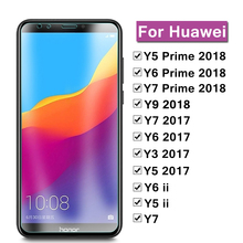 Protective Glass For Huawei Y5 Y6 Y7 Y9 Prime 2018 Y 5 6 7 9 2017 Screen Protector glass film On Hwawei Y9 2018 Tempered Glass 9d glass for huawei y7 y9 2018 protective glass for huawei y9 2019 y9 prime y7 prime 2019 jkm lx1 p smart z screen cover film