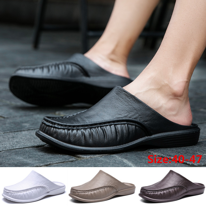 Men's Fashion Clogs Sandals Breathable Flats Home Leisure Slippers Water Shoes
