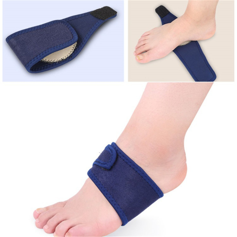 Silica Gel High Arch Orthotics Bandage For Heel Foot Pain Breathable Elastic Relief Plantar Fasciitis Orthopedic Insoles