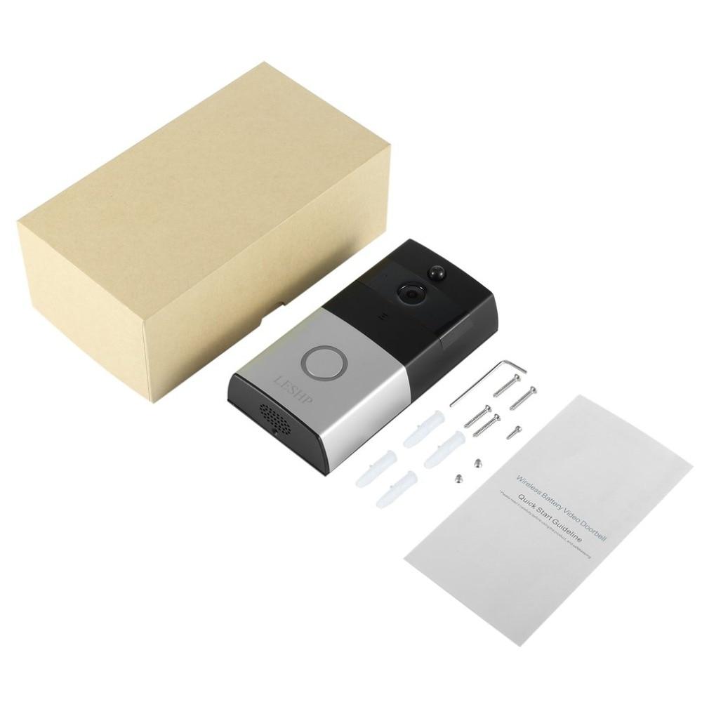 LESHP vidéo sonnette 1080P sans fil WiFi anneau porte cloche HD 2.4G téléphone à distance PIR mouvement bidirectionnel parler maison alarme sécurité - 6