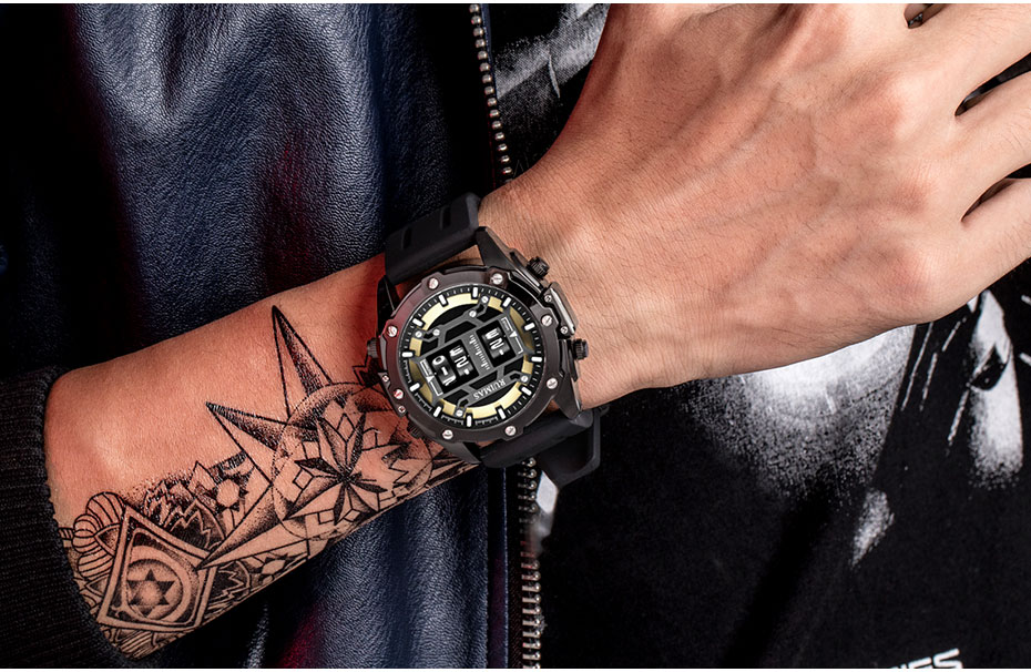 Ruimas digital relógio de quartzo masculino marca