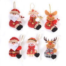 Lovely Snowman Elk Christmas Doll Pendant Tree Santa With Crutch Ornaments Xmas Hanging Decorations For Boy Girl Gifts
