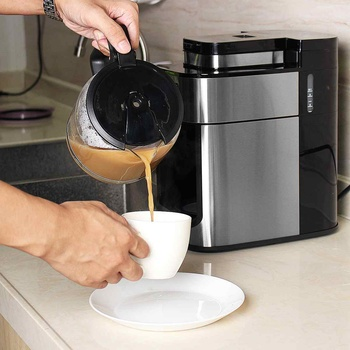 1000W Electric Coffee Maker Machine Fully-Automatic Drip Coffee Maker Tea Coffee Pot Barista Home Kitchen Appliance 1200ml 220V 3