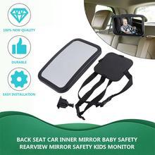 Автомобильное внутреннее зеркало на заднем сиденье, квадратное детское безопасное зеркало заднего вида, крепление на подголовник, зеркало для безопасности, детский монитор, Стайлинг автомобиля