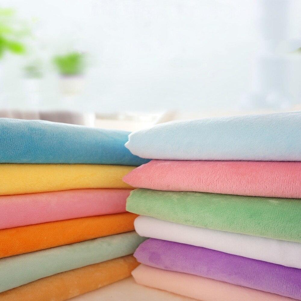 By Meter Crystal super soft cloth short plush DIY handmade cloth fabric baby plush toy cloth doll flannel
