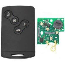 XRSHKEY 2 Pçs/lote 4 Keyless Remoto Chave botão com 434MHZ com 7952 chip Com Lâmina de Inserção Controle Remoto Do Carro para Koleos