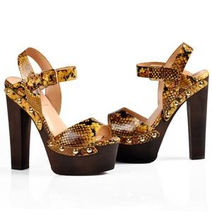 Image 5 - ורוד כפות ידיים נעלי סנדלי טריזי נעלי נשים גבוהה עקבים פיפ טו קרסול רצועת פלטפורמת סנדלי עם מסמרת zapatos mujer
