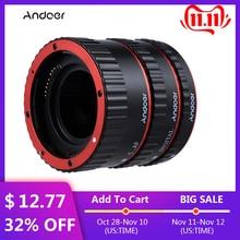 Andoer Nhiều Màu Sắc Kim Loại TTL Tự Động Lấy Nét AF Ống Macro Nhẫn dành cho Canon EOS EF EF S 60D 7D 5D II 550D Đỏ