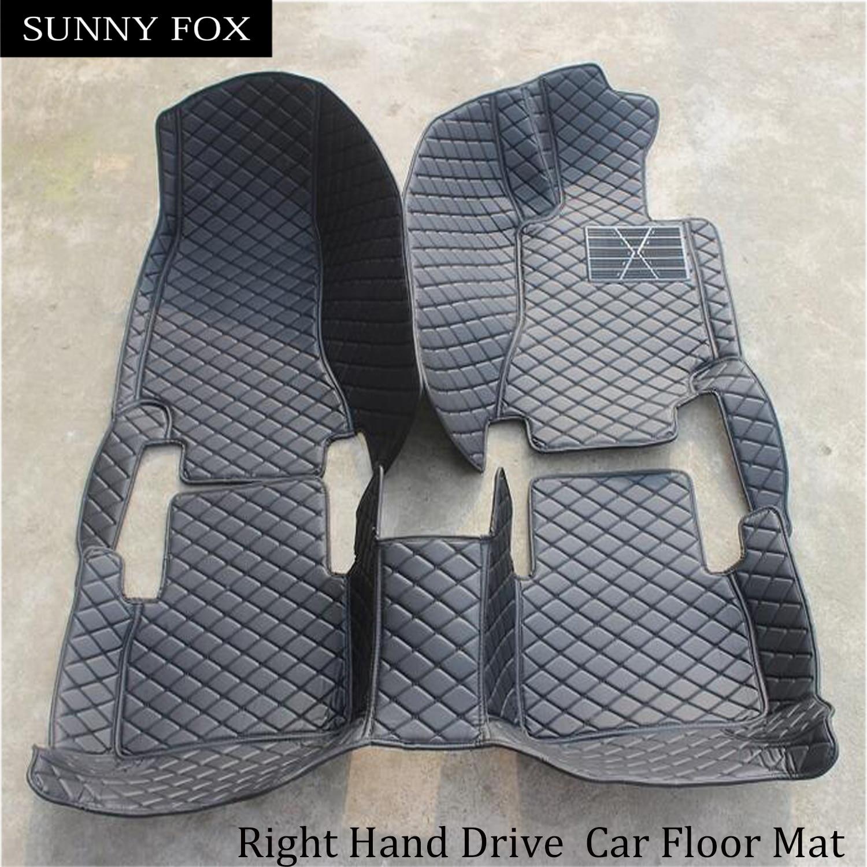 Sunny Fox правый руль/RHD автомобильные коврики специально для Lexus RX200T RX270 RX350 RX450H NX200 GS300 GS250 LS460L LX570 CT2