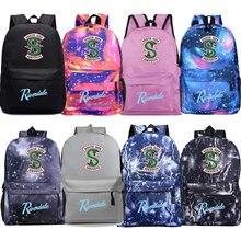 Рюкзак ривердейла Студенческая школьная сумка для мужчин и женщин