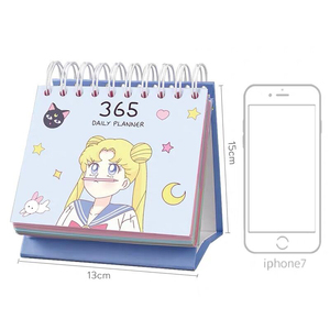Image 2 - 2020 Sailor Moon 365 Dagen Kalender Meisjes Blauw Kawaii Accessoires Anime Sailor Moon Tsukino Usagi Prinses Serenity Cosplay Gift