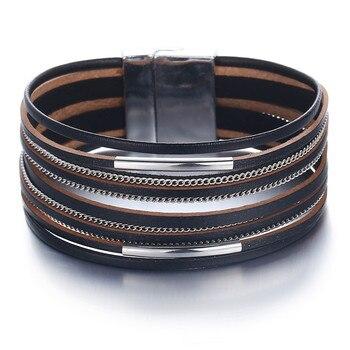 Women's Gold Leather Bracelet Bracelets Jewelry New Arrivals Women Jewelry Metal Color: FCS119321