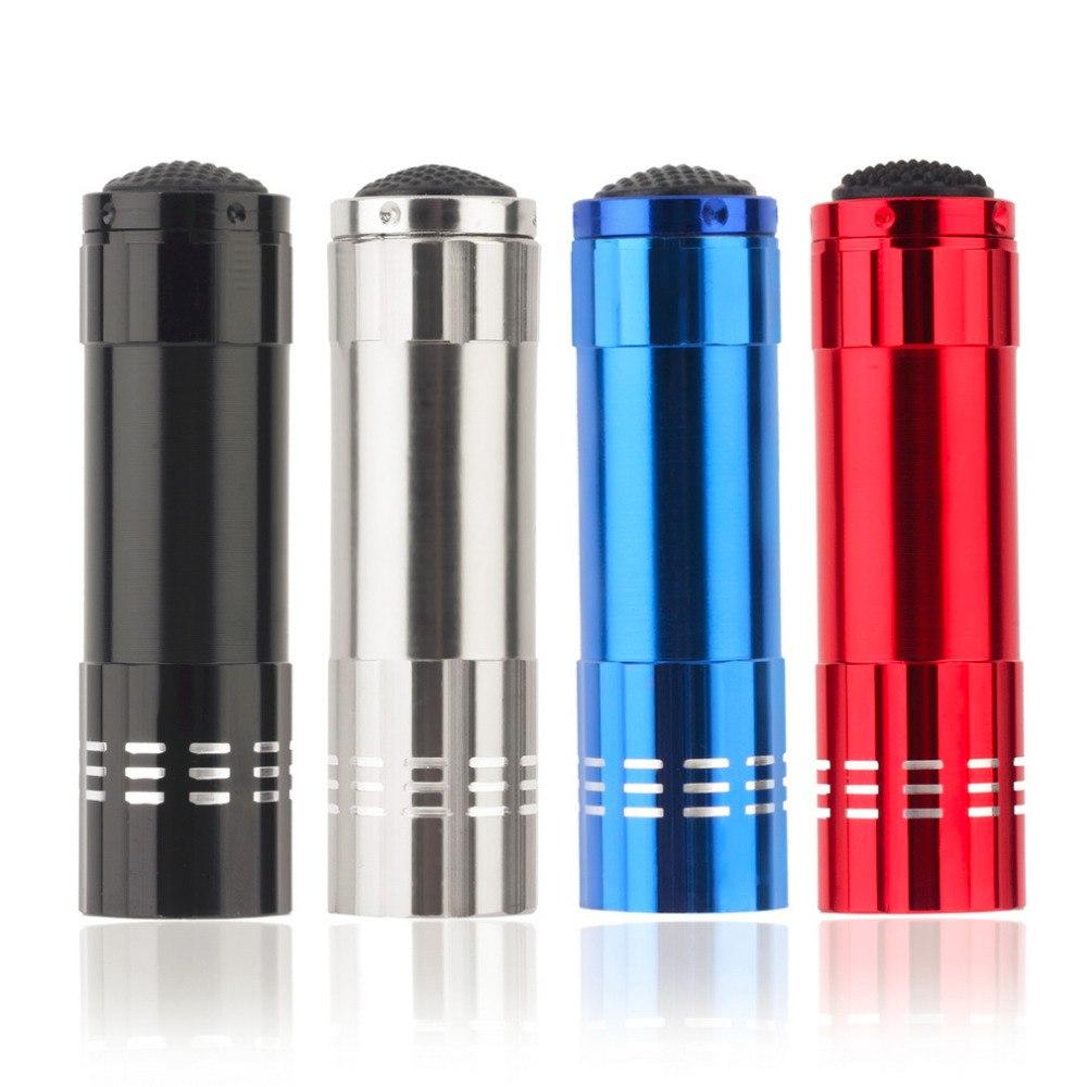 Portable Mini Aluminum LED Flashlight Torch Light Penlight Pocket Light Lamp For Outdoor Camping Hiking Light Four Colors