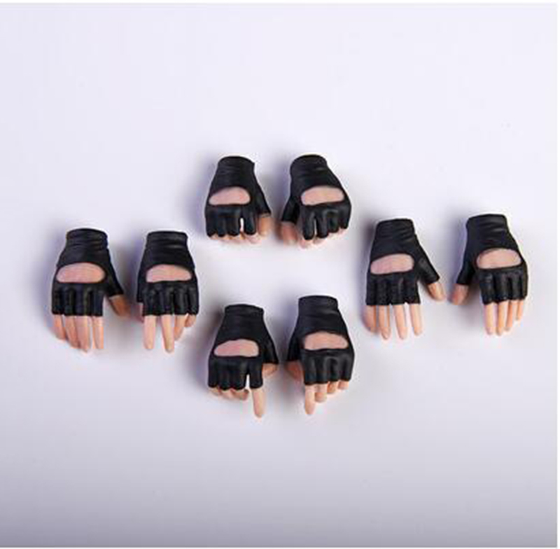 1/6 Black Hand Types Gloves Pale Hands for 12''Figures Bodies Accessories Gun Hands image