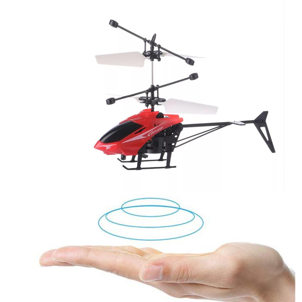 Mini RC Drone Flying RC Infraed Induction Helicopter Aircraft Flashing Light Toys For Kids Christmas Gift