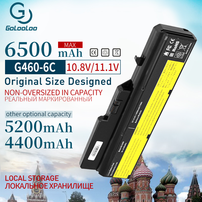 6Cell 11.1V Laptop Battery For Lenovo G460 G560 G465 E47G L09L6Y02 L09S6Y02 L10P6F21 LO9S6Y02 B570e V360A Z370 K47A Z560
