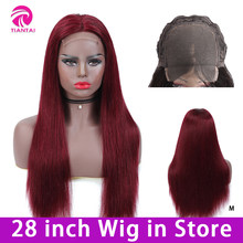 28 inch Straight 4*4 Lace Closure Wig Human Hair Lace Wigs Brazilian Remy Hair Lace Wig Human Hair Ombre Color Human Hair Wigs(China)