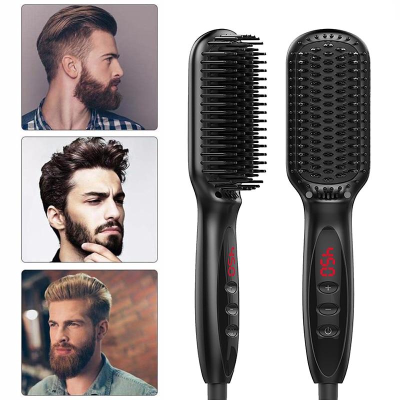 Quick Beard Straightener Hair Straightener Irons Comb Salon Fast Heat Hair Styling Tools Ceramic Hair Straightening Brush