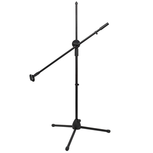 Swing Boom Floor Metal Stand Adjustable Stage Microphone Stand Tripod Microphone Holder for Live Streaming Vlog